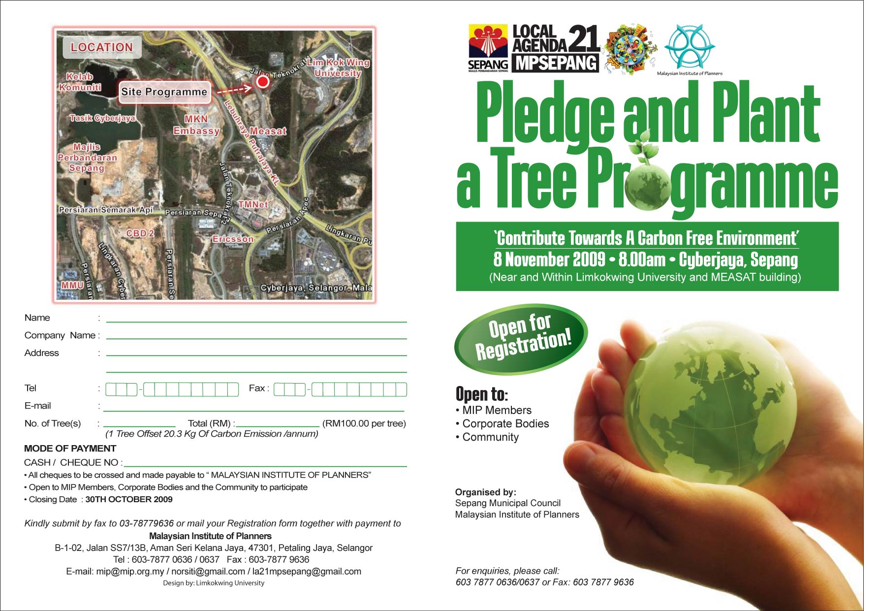 Cyberjaya: Pledge and Plant a Tree Program