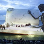 A Giant Book at Lake Constance in Bregenz