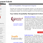 Top 4 Online Universities in Hotel and Restaurant Management