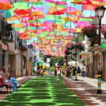 Colourful Umbrellas in Portugal